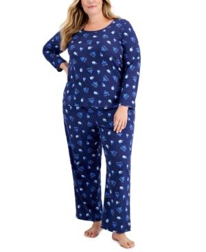 Plus Size Hanukkah Pajama Set