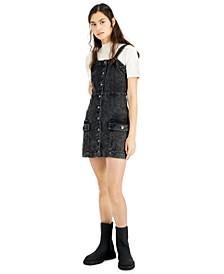 Juniors' Denim Overall Dress