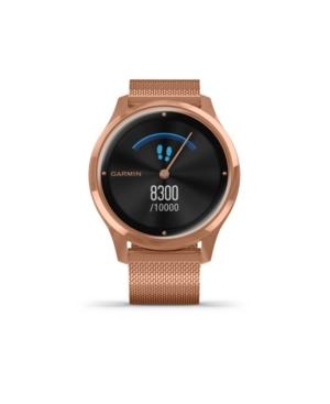 Unisex Vivomove 3 Luxe 18K Rose Gold Milanese Strap Smart Watch 24.1mm