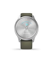 Unisex Vivomove 3 Style Moss Green Silicone Strap Smart Watch 24.1mm