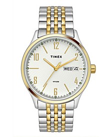 Traditional Men's Two-Tone Stainless Steel Bracelet Watch 39mm