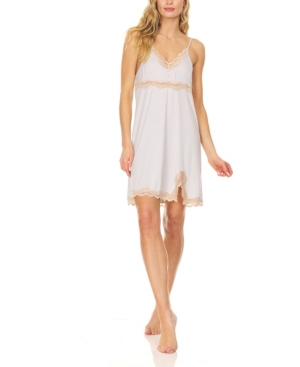 Women's Featherweight Chemise Sleepwear with Lace Trim Detail