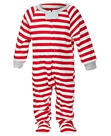 Matching Baby Boys & Girls Striped Footed Family Pajama