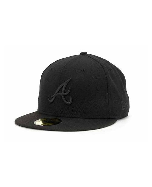 New Era Atlanta Braves Black on Black Fashion 59FIFTY