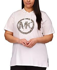 Plus Size Logo-Print Tunic Hoodie