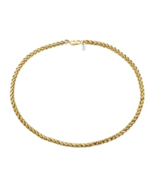Gold Tone Stainless Steel 8mm Cuban Chain Necklace