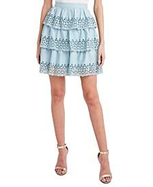 Ruffled Tiered Mini Skirt