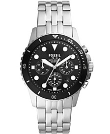 Men's FB-01 chronograph movement, stainless steel bracelet watch 42mm