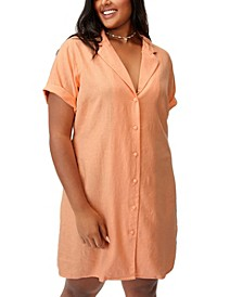 Trendy Plus Size Shirt Dress