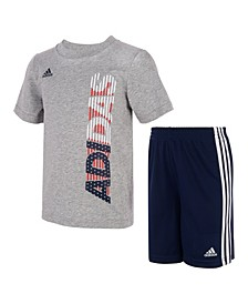 Baby Boys Graphic T-shirt and Shorts Set, 2 Piece