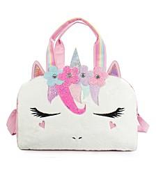 Kids Miss Gwen Unicorn Flower Crown Plush Duffle Bag