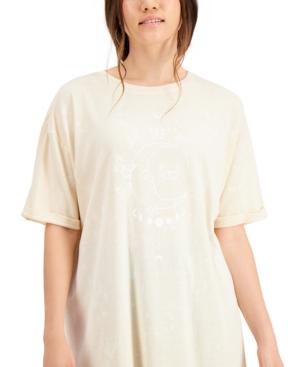 Juniors' Celestial Butterfly Graphic T-Shirt Dress