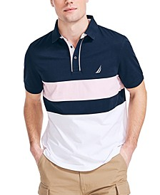 Men's Classic-Fit Colorblocked Heritage Polo Shirt