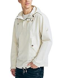 Men's Pinstriped Hooded Anorak Jacket