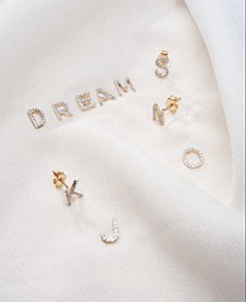 Diamond Initial Single Stud Earring (1/20 ct. t.w.) Collection in 14k Gold, Created for Macy's