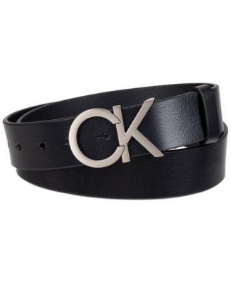 Men's 38mm CK Plaque CE with Stitch Belt