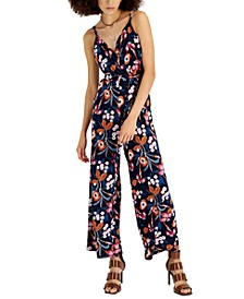 Petite Printed Tie-Waist Jumpsuit, Created for Macy's