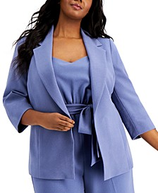 Plus Size Open-Front Blazer, Created for Macy's