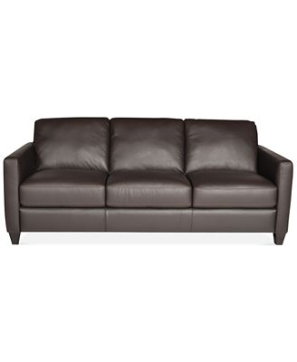 Emilia Leather Sofa ly at Macy s Furniture Macy s