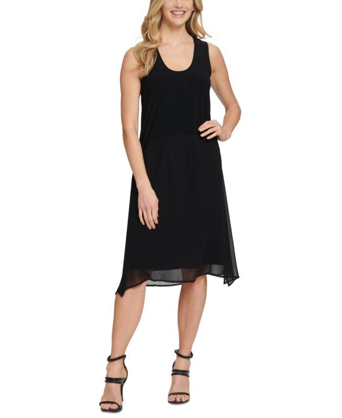 DKNY Asymmetrical Sleeveless Dress & Reviews - Dresses - Women - Macy's