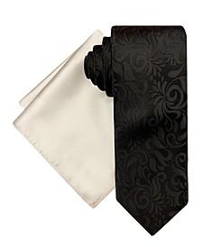 Men's Vine Tie and Pocket Square Set