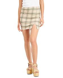 Juniors' Plaid Mini Skirt