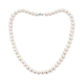 Effy 7-8 Millimeter White Freshwater Pearl Necklace