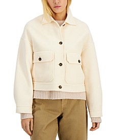 Borbona Cropped Wool Coat