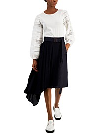 Asymmetrical Belted Skirt