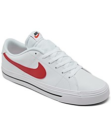 Men's Court Legacy Leather Casual Sneakers from Finish Line