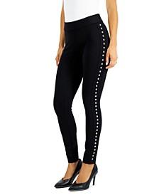 Side-Studded Leggings, Created for Macy's