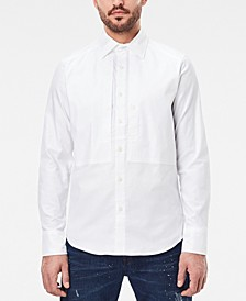 Men's Panelled Pocket Long Sleeve Slim Shirt