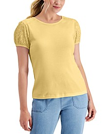 Eyelet-Sleeve Top, Created for Macy's