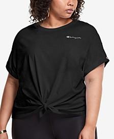 Plus Size Tie-Front T-Shirt