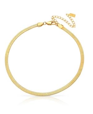 18k Gold Plated Anti-Tarnish Herringbone Necklace