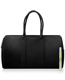 Receive a Complimentary Duffel Bag And Pen Spray with any large spray purchase from the Calvin Klein Men's fragrance collection