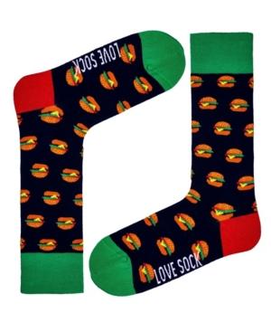 Men's Burger Novelty Crew Socks