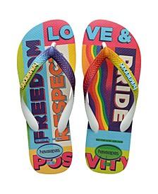 Women's Top Pride Rainbow Flip Flop Sandals
