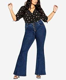 Trendy Plus Size Harley Flare Jeans