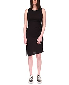 Sleeveless Asymmetric Sheath Dress, in Regular and Petite