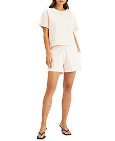 Dropped-Shoulder Cotton T-Shirt