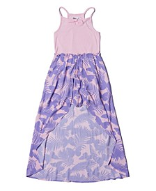 Big Girls All Over Print Challis Walk-Thru Dress
