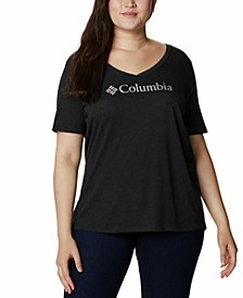 Plus Size Relaxed V-Neck T-Shirt