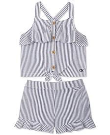Baby Girls 2-Pc. Seersucker Tank Top & Shorts Set