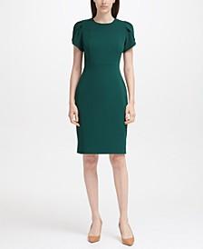 Tulip-Sleeve Sheath Dress