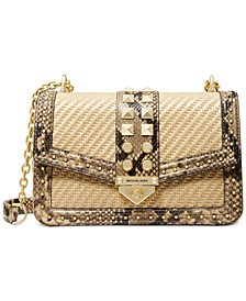 Soho Large Frameout Straw Chain Shoulder Bag