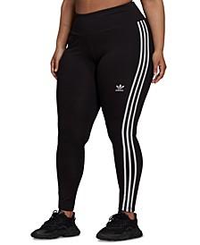 Plus Size 3-Stripes Full-Length Leggings