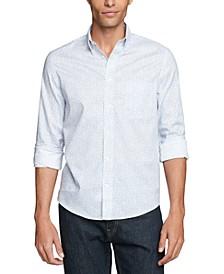 Men's Regular-Fit Untucked Blue Dress Shirt