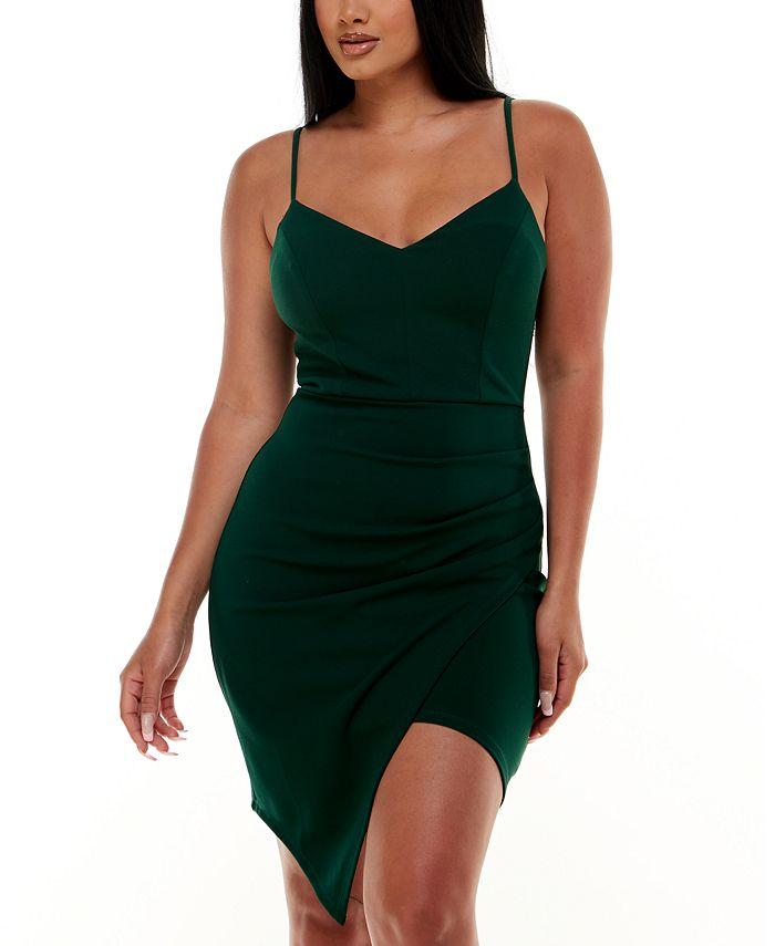 Emerald Sundae - Juniors' Asymmetrical-Hem Dress