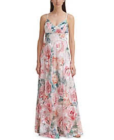 Floral-Print Ball Gown